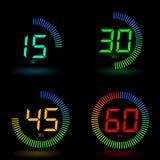 Digitale chronometer Stock Afbeeldingen