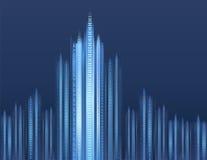 Digitale cityscape Stock Foto's