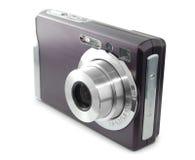 Digitale compacte photocamera die op het wit wordt geïsoleerd Stock Fotografie