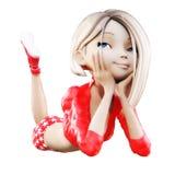 Digitale 3D Illustratie van Toon Girl Stock Fotografie