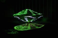 Digitale dans in groen of abstract cijfer stock foto's