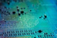 Digitale Daten des Elektroniktechnikmotherboards Stockfoto