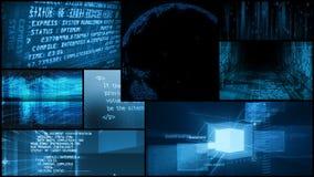 Digitale Datennetz-globale Technologie-Montage vektor abbildung