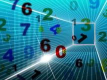 Digitale de aantallen vertegenwoordigt hallo Technologie en Universiteit Royalty-vrije Stock Afbeeldingen