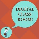 Digitale de Klassenzaal van de handschrifttekst Conceptenbetekenis waar studenten het leren en interactie met binnen instructeur  stock illustratie