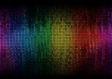 Digitale de kleurenvertoning van de equaliser Royalty-vrije Stock Foto's