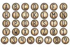 Digitale de Schrijfmachinesleutels van het Plakboekalfabet Stock Afbeeldingen