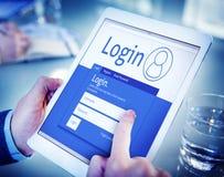 Digitale de Tablettoegankelijkheid van de handenholding Stock Fotografie
