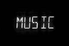 Digitale de tekst van de muziek Stock Afbeelding