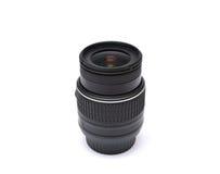 Digitale die SLR-cameralens op wit wordt geïsoleerd Royalty-vrije Stock Afbeeldingen
