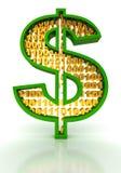 Digitale dollar Royalty-vrije Stock Afbeeldingen
