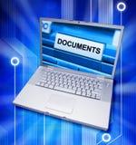 Digitale Dossiers op een Computer Stock Foto's