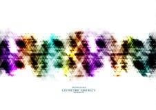 Digitale Dreieckzusammenfassung des geometrischen technologischen Regenbogens Stockbilder