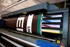 Digitale druk - brede formaatpers Stock Foto's