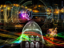 Digitale Encryptie stock illustratie