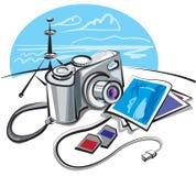Digitale fotocamera stock illustratie
