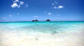 Digitale Fotografieachtergrond van Lanikai-Strand Kailua Hawaï Royalty-vrije Stock Afbeeldingen