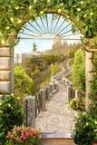 Digitale fresko Weg aan het kasteel Royalty-vrije Stock Afbeelding