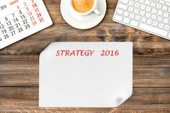Digitale gadgets Kalender 2016 Strategie en beheer Royalty-vrije Stock Afbeelding