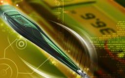 Digitale Geïsoleerde Thermometer Royalty-vrije Stock Afbeeldingen