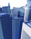 Digitale Geïsoleerdt CityScape Royalty-vrije Stock Afbeeldingen