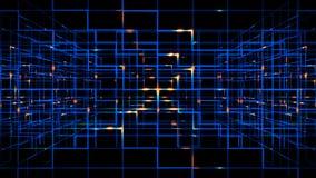 Digitale gegevens videomatrijs royalty-vrije illustratie