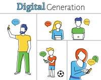 Digitale generatie Stock Fotografie