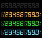 Digitale geplaatste aantallen stock illustratie