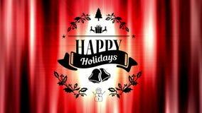 Digitale geproduceerde video van gelukkige vakantie stock footage