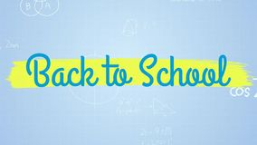 Digitale geproduceerde video van terug naar school stock videobeelden