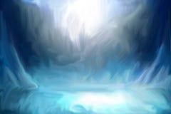 Digitale Geschilderde Textuur Abstracte Achtergronden royalty-vrije illustratie