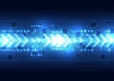 Digitale Geschwindigkeitstechnologie des Vektors, abstrakter Hintergrund Lizenzfreies Stockbild