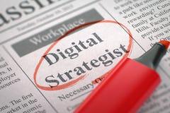 Digitale Gewilde Strateeg 3d Royalty-vrije Stock Afbeelding