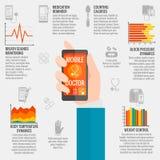 Digitale gezondheidsinfographics Royalty-vrije Stock Afbeeldingen