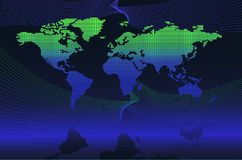 Digitale globale kaart Stock Fotografie