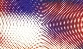 Digitale gradiënt met punten Abstract futuristisch paneel Gestippelde Backgound Zwart-wit halftone patroon Vectorillustratie Royalty-vrije Stock Afbeelding