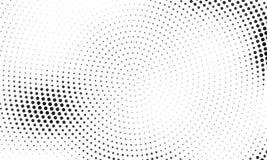 Digitale gradiënt met punten Abstract futuristisch paneel Gestippelde Backgound Zwart-wit halftone patroon Vectorillustratie Royalty-vrije Stock Foto