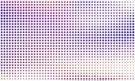 Digitale gradiënt met punten Abstract futuristisch paneel Gestippelde Backgound Zwart-wit halftone patroon Vectorillustratie Stock Fotografie