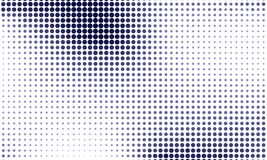 Digitale gradiënt met punten Abstract futuristisch paneel Gestippelde Backgound Zwart-wit halftone patroon Vectorillustratie royalty-vrije illustratie