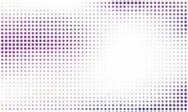 Digitale gradiënt met punten Abstract futuristisch paneel Gestippelde Backgound Zwart-wit halftone patroon Vectorillustratie Stock Foto