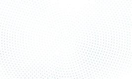Digitale gradiënt met punten Abstract futuristisch paneel Gestippelde Backgound Zwart-wit halftone patroon Vectorillustratie stock illustratie