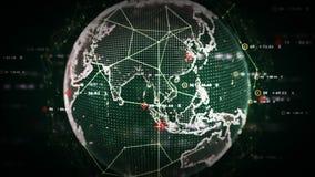 Digitale Groene Wereldgegevens royalty-vrije illustratie