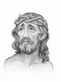 Digitale het potloodschets van Jesus stock illustratie