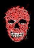 Digitale het schilderen schedel Royalty-vrije Stock Afbeeldingen