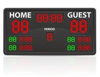 Digitale het scorebord vectorillustratie van hockeysporten Royalty-vrije Stock Foto's