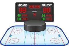 Digitale het scorebord vectorillustratie van hockeysporten Royalty-vrije Stock Afbeelding