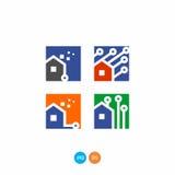 Digitale huisvector clipart Stock Afbeelding