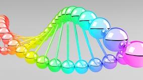 Digitale illustratie van DNA-structuur. Stock Afbeeldingen
