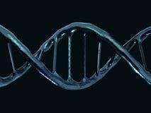 Digitale illustratie van een DNA-model het 3d teruggeven Stock Foto's