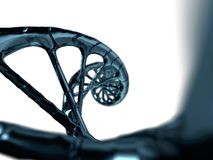Digitale illustratie van een DNA-model het 3d teruggeven Royalty-vrije Stock Fotografie